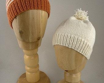 Easy Childs Hat Knitting Pattern - PDF