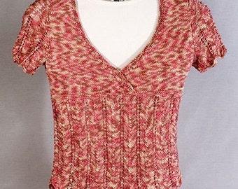 Razor Lace Sweater Knitting Pattern - PDF