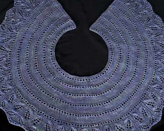 Sugared Violet Shawlette Knitting Pattern - PDF
