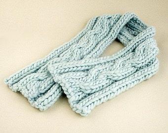 Biggy Cable Scarf Knitting Pattern - PDF