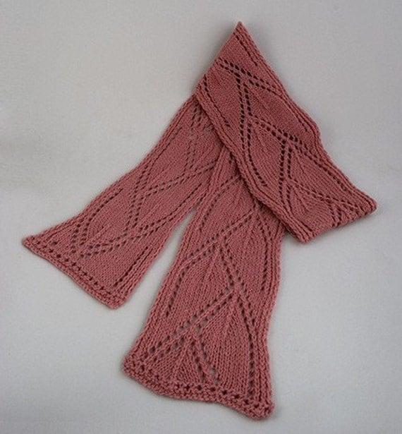 Kumara Mountain Scarf Knitting Pattern - PDF