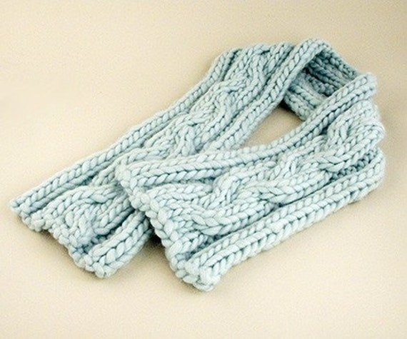Biggy Cable Scarf Knitting Pattern PDF