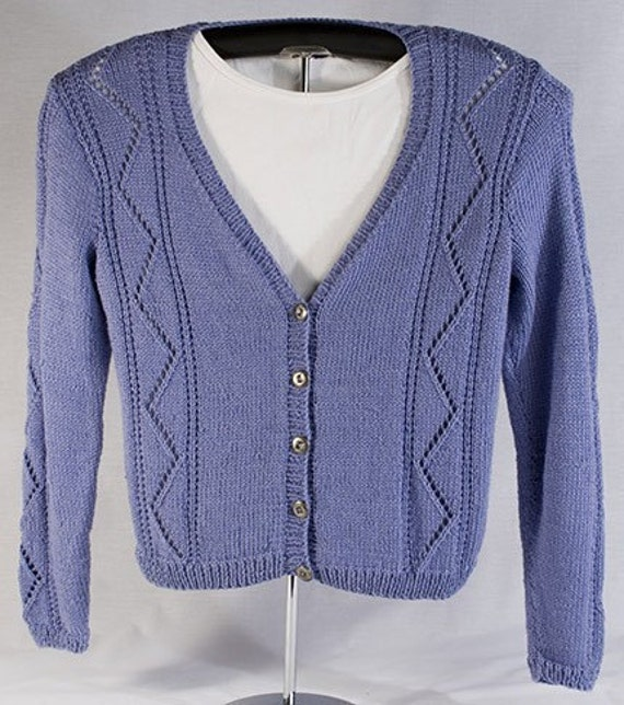 Lace Cardigan Knitting Pattern : Long Sleeve Lace Cardigan Knitting Pattern PDF by FiberWild