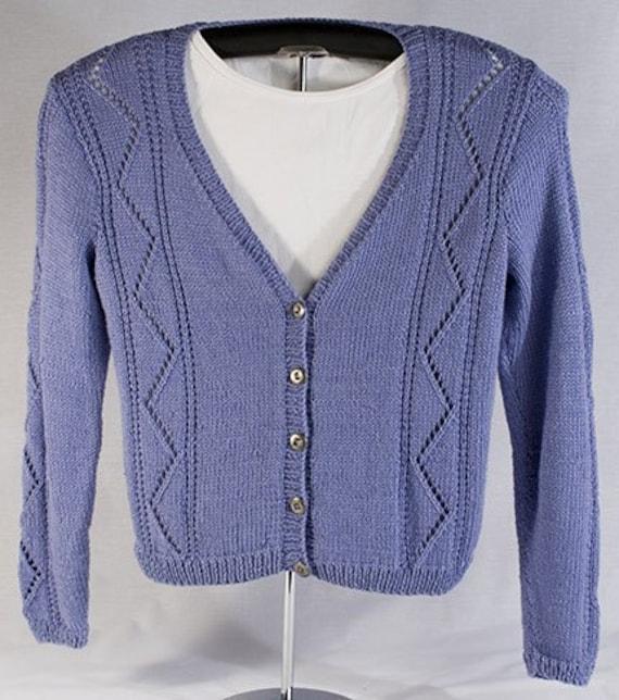Long Sleeve Lace Cardigan Knitting Pattern PDF