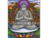 Meditating Namaste Yeti print