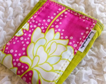 Baby burp cloth  -  lime peony floral hand dyed burp cloth