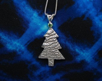 Cuttlebone Cast Christmas Tree Pendant
