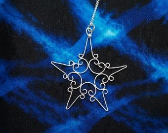 Small Silver Filigree Star