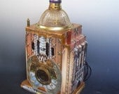 Steamworks Dreamworks, lighted Steampunk sculpture with Antonio Gaudi images