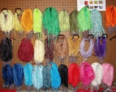 HuGe SALE -100 RIBBON/Cord Necklaces of mixed colors --- ships from US