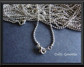 20 Silver Plated Ball necklaces with lobster clasp----- 17 & 19 inches