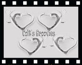 5 Soooooo Sooooo Cute Gold Heart Charm Pendant with Lobster Clasps --