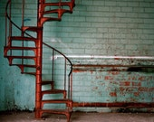 SALE-Rusty Stairs, 8x10 Fine Art Photograph