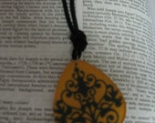 Black and Yellow designed Pendant Necklace