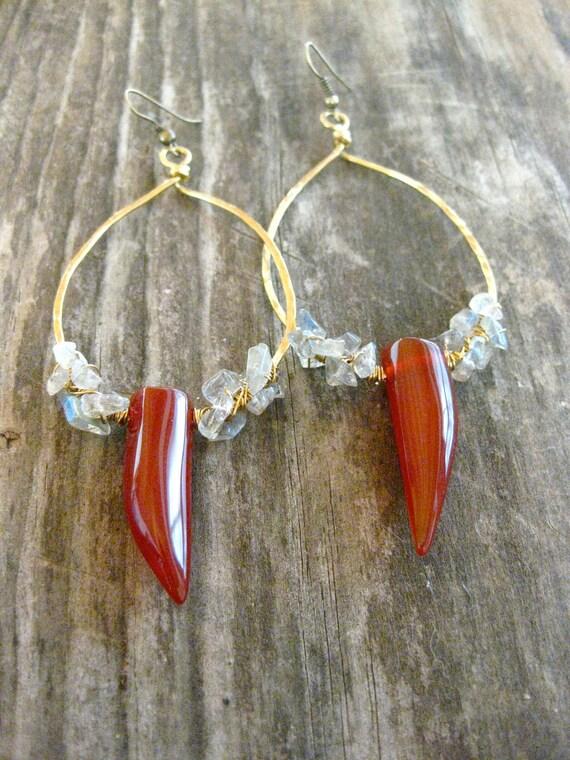 Fang Earrings Big Earrings Bohemian Earrings