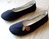 Organic Vegan Custom Handmade Ballet Flats- Keyhole Flat