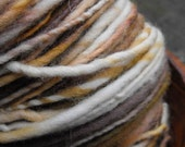 Handspun yarn, handpainted Merino wool, multiple skeins available-CARAMEL MACCHIATO