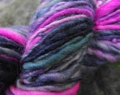 Handspun yarn, Handpainted Merino wool and Silk yarn, last one-LISA FRANK