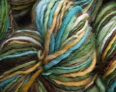 Handspun yarn, handpainted thick and thin yarn, Merino wool, light worsted or sport weight, last one-EUPHROSYNE