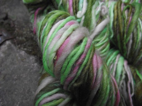 Handspun yarn, gorgeous handpainted Merino and Silk Yarn on sale, -Dance of the SUGARPLUM FAIRIES