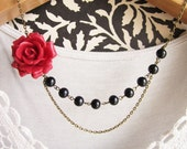 Marie Rose Bud Necklace