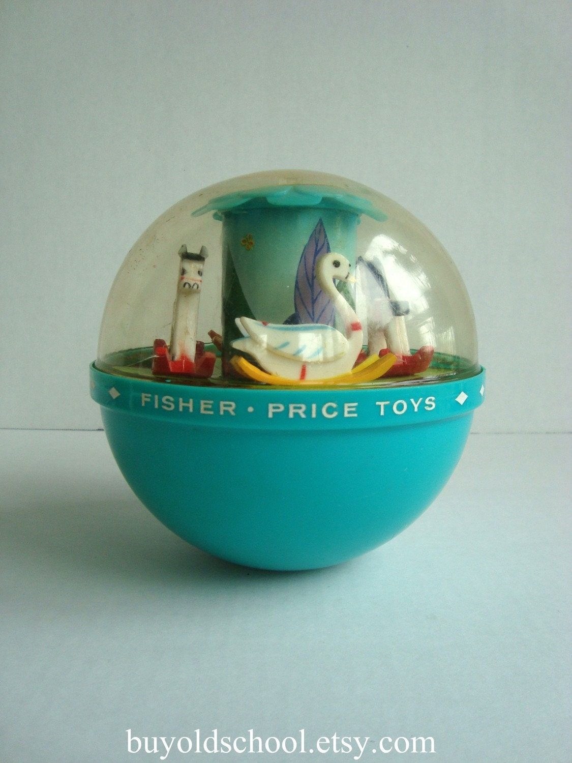 1966 Fisher Price Toys Vintage Roly Poly Chime Ball