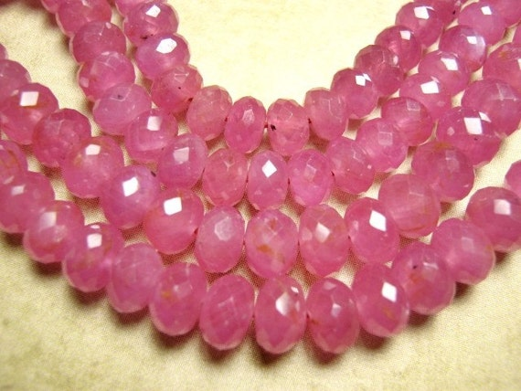 Pink Tourmaline Gemstone, Faceted Rondelles, Select your size. Semi Precious Gemstone.   (4T60) .