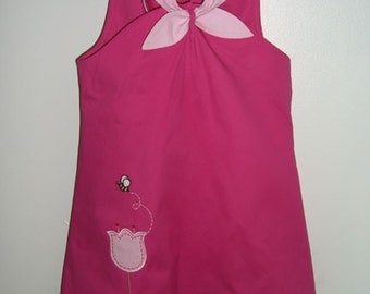 Girl's Sundress with Tulip Applique