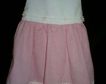 Pink and White Gingham Sundress