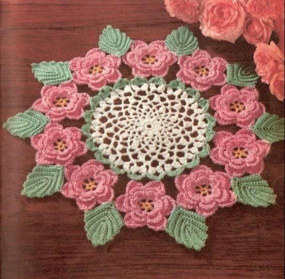 Irish Rose Doily Crochet Pattern