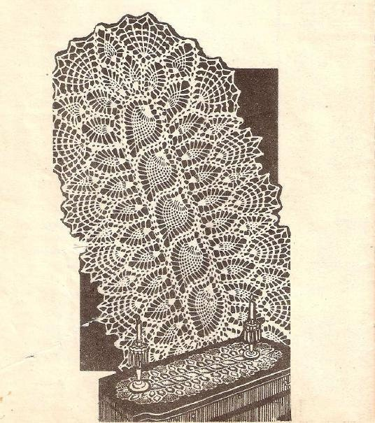 Crochet Patterns Doily Runner Pineapple 3170 Pineapple