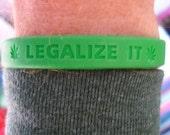 LEGALIZE IT pro hemp marijuana silicone bracelet wristband