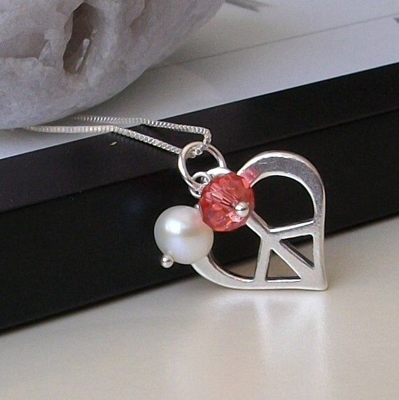 LAST ONE Sterling Heart Necklace