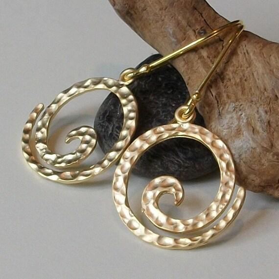 LAST ONE Swirl Dangle Earrings