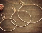 Copper Hoops - Medium / Handmade