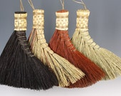 Turkey Wing Broom in your choice of Natural, Black, Rust or Mixed Broomcorn