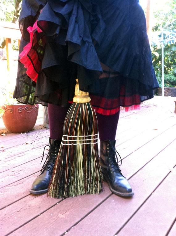 Kitchen Broom - Mix Colored - Rust, Black & Natural