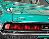 1970 Teal Mercury Cougar Vintage Car Fine Art Print- Car Art, Antique Car, Home Decor, Nursery Decor, Wall Art, Vintage Car