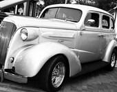 1937 Chevrolet Coupe Silver Fine Art Print- Car Art, Antique Car, Home Decor, Nursery Decor, Wall Art, Vintage Car