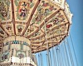 Carnival Swings Ride Fine Art Print- Carnival Art, County Fair, Nursery Decor, HomeDecor, Children, Baby, Kids