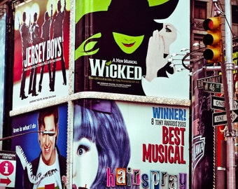 Broadway Billboards in New York Fine Art Print - Travel, Scenic, Landscape, Nature, Home Decor, Zen
