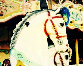 Carousel Carnival Horse Merry-Go-Round Fine Art Print- Carnival Art, County Fair, Nursery Decor, Home Decor, Children, Baby, Kids