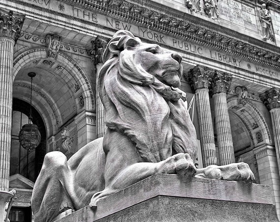 New York City Public Library Black & White Fine Art Print