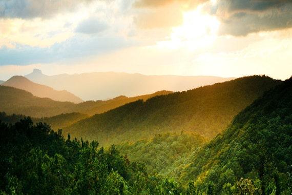 Sunlit Blue Ridge Mountains Fine Art Print