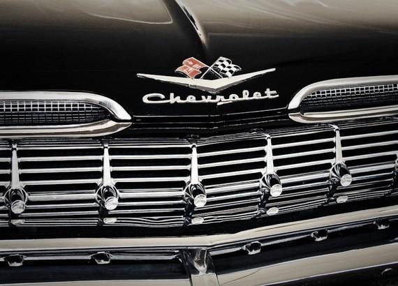 1959 Chevrolet Impala Car Photography, Automotive, Auto Dealer, Muscle, Sports Car, Mechanic, Boys Room, Garage, Dealership Art