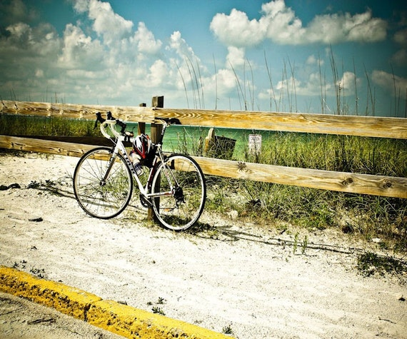 Beach Summer Bicycle Fine Art Print