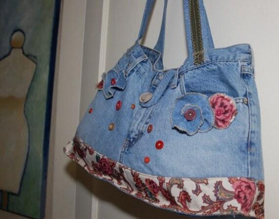 Elizabeth - up-cycled whimsy bag ... SALE