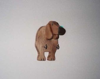 SUPER SALE-Dachshund leash/key holder head version  handcrafted