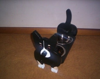 Chihuahua elevated dog feeder, handcrafted