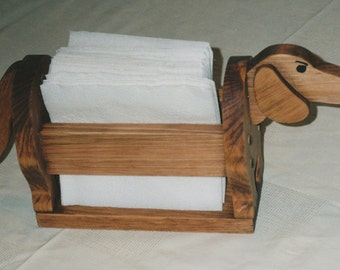 Dachshund Napkin Holder and many more uses handcrafted